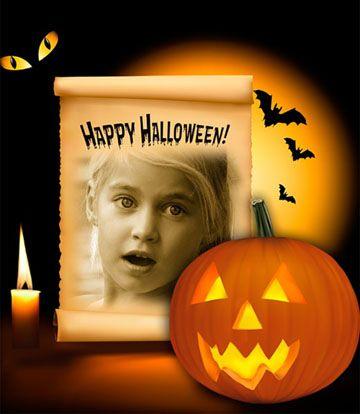 Collage online de Halloween para poner tu foto Gratis. #halloween #happyhalloween #collagehalloween #calabazas #murciélagos