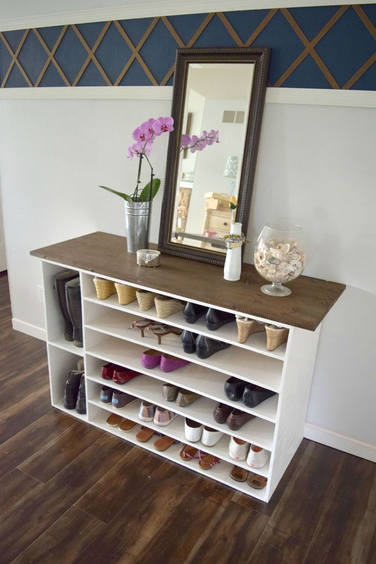 How to make a DIY shoe organizer and rack for the closet • Our House Now a Home