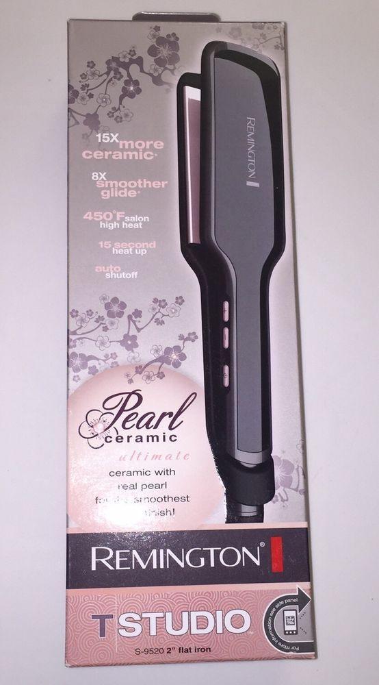 "Remington S-9520 2"" Flat Iron Ceramic Pearl #Remington"