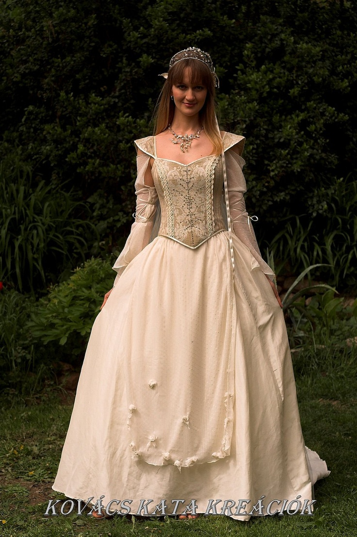 Medieval renaissance style alternative corset wedding gown for Period style wedding dresses