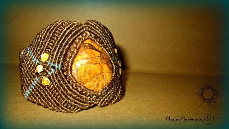 Handmade Macrame Bracelet by MayasMacrameLab on Etsy