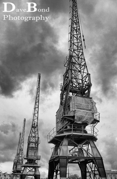 Cranes at Bristol docks