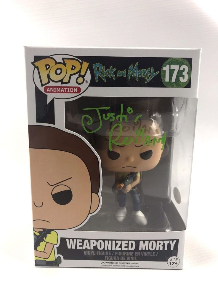 Justin Roiland Signed Autograph Funko POP Rick and Morty JSA COA Weaponized