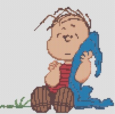 My absolute favorite Peanuts character!    This listing is for the Linus Van Pelt PATTERN only, not a completed cross stitch.    Stitch Count: 92H