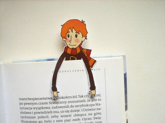 Ron Weasley (Harry Potter series ) printable bookmark from BigNerdWolf on Etsy. - you will get a digital file for printing bookmark, 300 dpi high resolution, jpg and pdf format. Instant download, ready for printing on ink or laser jet printer.  ITS EASY!