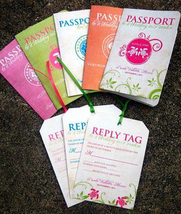 Tarjetas de Invitación Tipo Pasaporte -- Fotografía: Inviting Design Studio