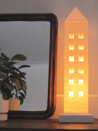 Everyday Design'n house lamps, made of Finnish carton.