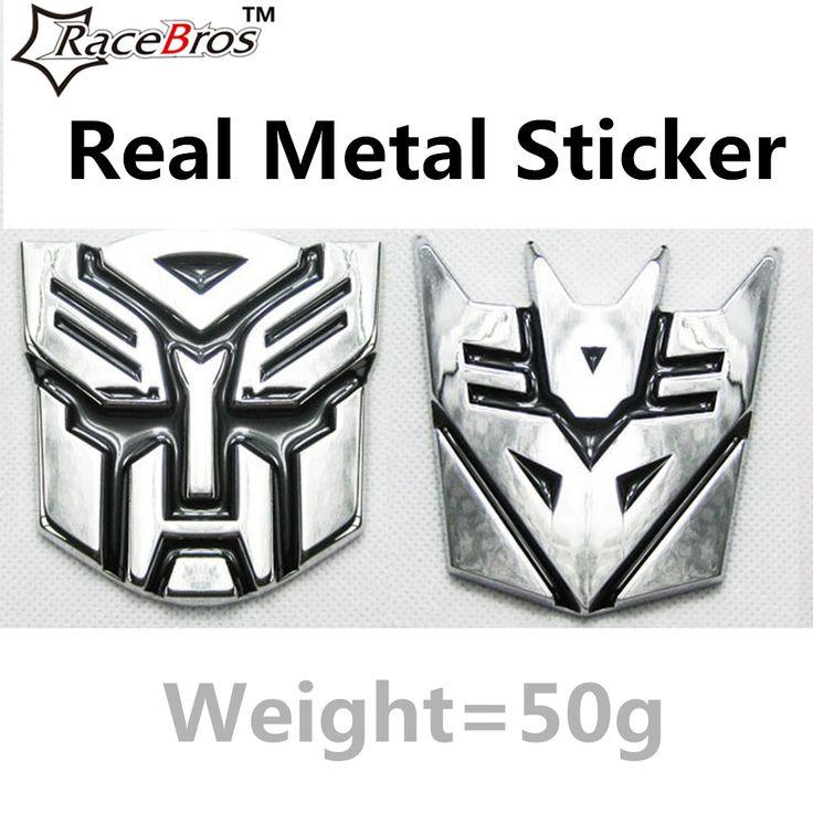 One Piece Pure Metal Car Zinc Alloy 3D Transformer Logo Emblem Badge Bicycle Decal Motor Sticker MTB Road Bike metal sticker