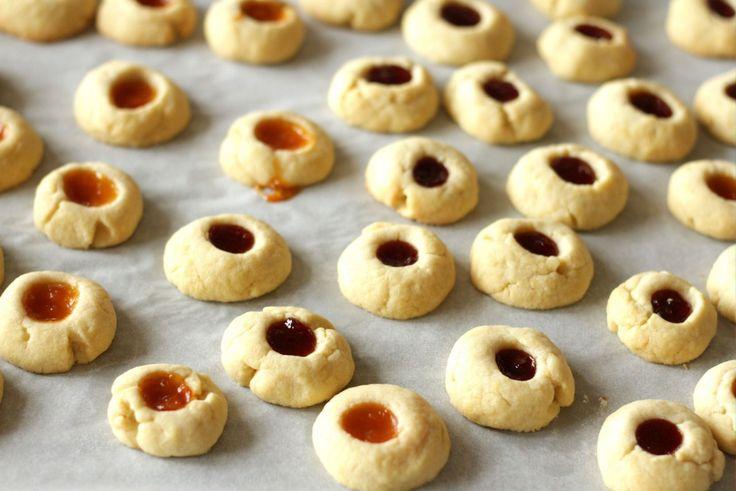Austrian Jam Thumbprint Cookies ~ Living on Cookies