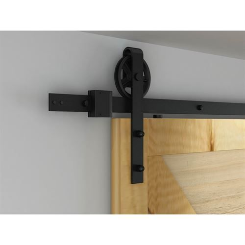 We're excited to introduce the Designer's Collection Rolling Door Kit - our newest solution for the cost-conscious buyer! The black powder-coated steel hardware has a versatile look that is perfect for any interior space and it's sturdy enough to support a loading weight of up to 225 lbs.   #BarnDoor #SlidingDoor #VanDykes #WhatsNew