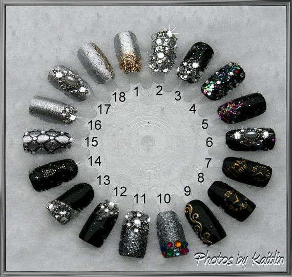 Bling In The New Year Artificial Nail Art - Kaitlins designs usa - more georgous ones on bookmark bar favourites