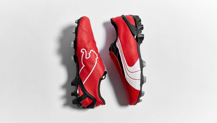 Football Boots Puma V1.06 with Red/White/Black Edition