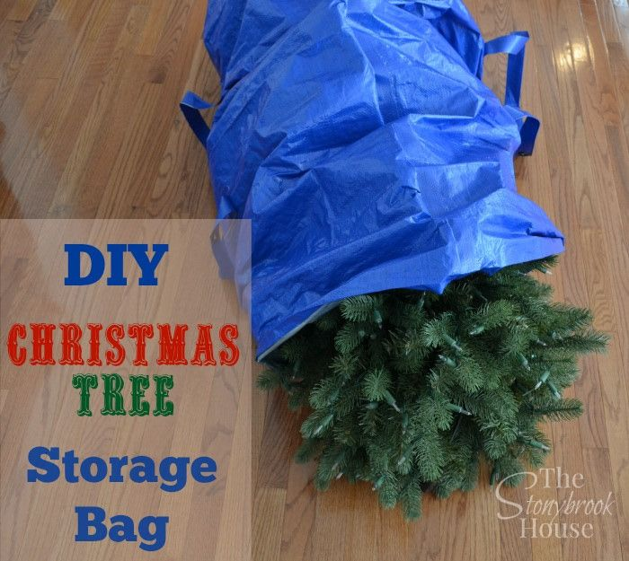 DIY Christmas Tree Storage Bag www.thestonybrookhouse.com