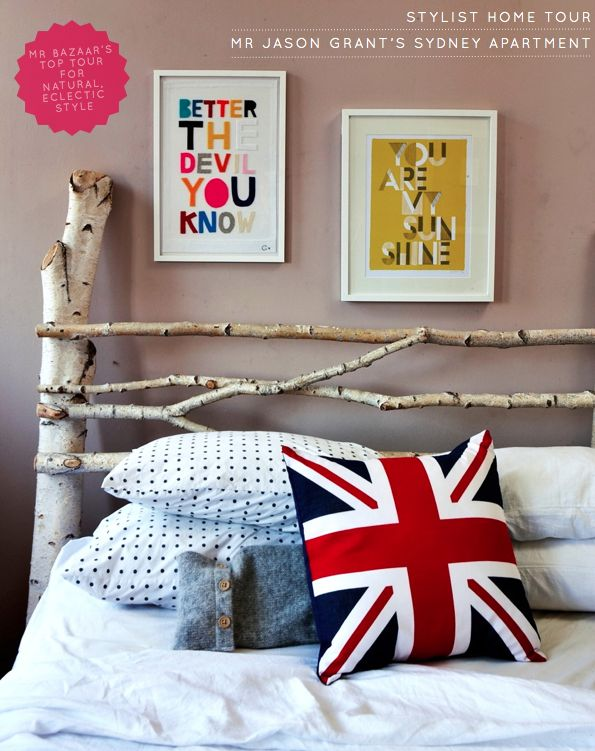 Want that as my bed frame SO BAD!!!!: Diy Ideas, Home Tours, Good Ideas, Headboards Ideas, Natural Branches, Trees Branches, Beds Frames, Homemade Headboards, Branches Headboards