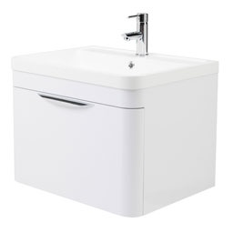 Montpellier 600mm Wall Hung 1 Drawer Basin Unit