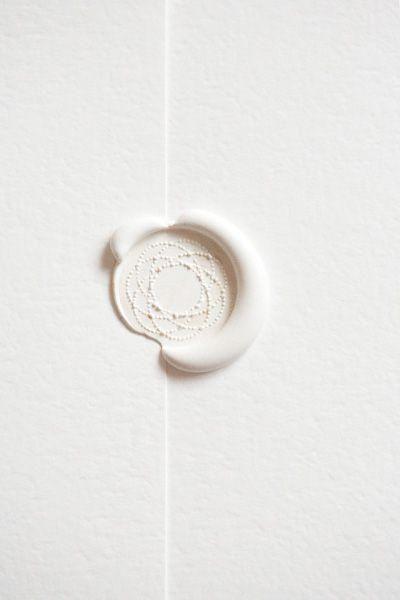 white envelope sealing wax seal