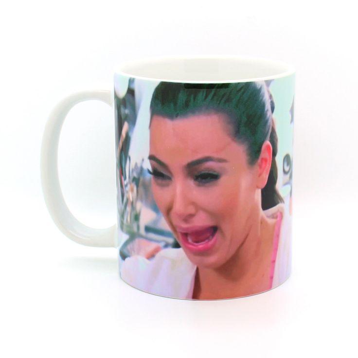 Kim Kardashian crying face mug- Funny mug - Rude mug - Mug cup 4P019A by PooSparkles on Etsy https://www.etsy.com/listing/253071252/kim-kardashian-crying-face-mug-funny-mug