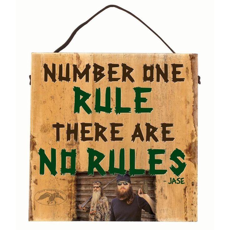 Big Sky Carvers Duck Commander Number One Rule Sign