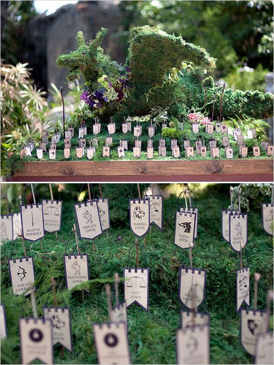 Unique escort card ideas photo by Bound By.