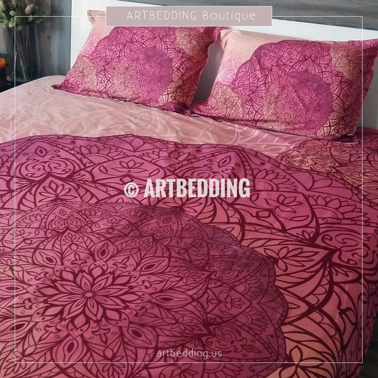Bohemian bedding, Bohemian queen / king / full / twin duvet cover, Higher heart sacred circle mandala duvet cover set, Boho duvet cover, boho bedding