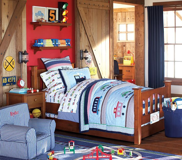 Ryder Train Bedding And Sheets From Pottery Barn Kids
