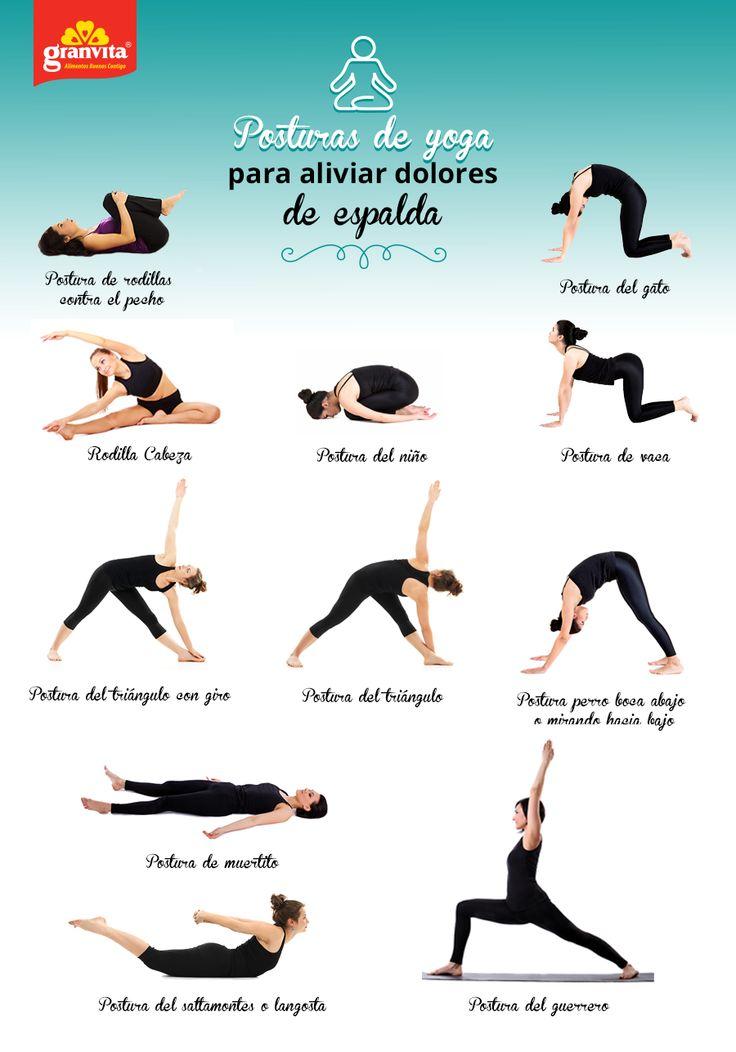 ¿Te duele la espalda? Prueba estas posturas de yoga 2 veces al día y verás como te sentirás mejor