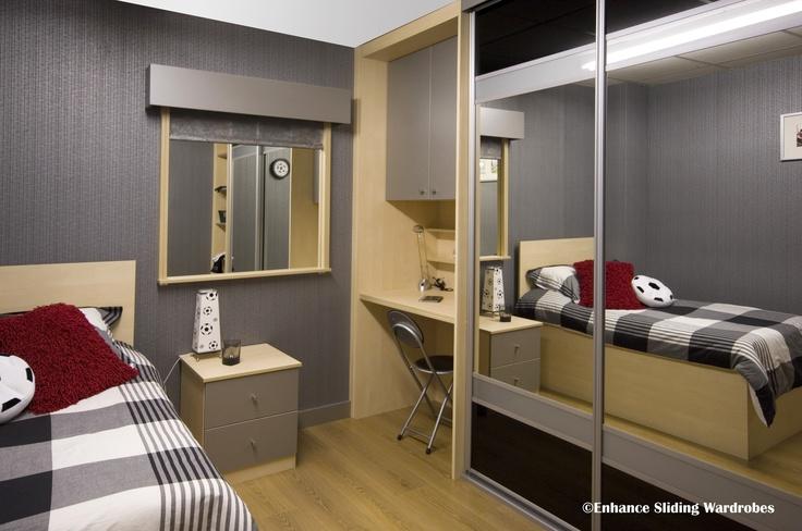 58 best bedroom storage ideas images on pinterest sliding wardrobe bedroom storage and closet for Bedroom set with matching desk