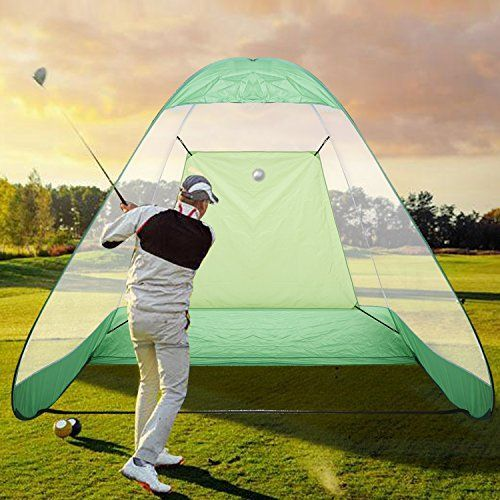 Golf Practice Net,Portable Driving Range Pop-Up Foldable Golf Net Practice with Carrying Bag, Green #GolfNet