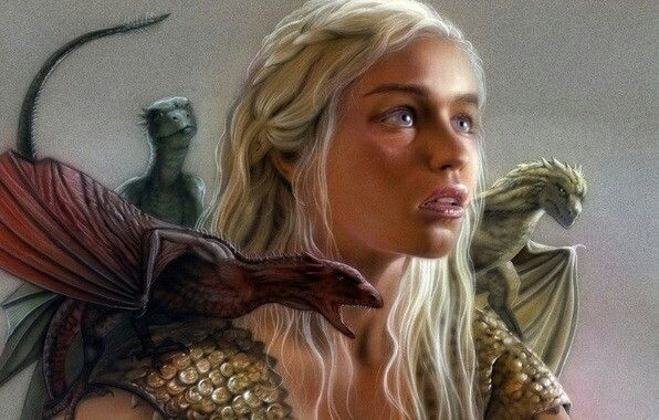 game of thrones khaleesi in fire