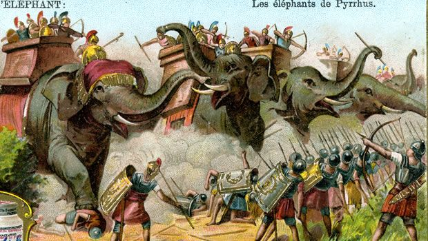 The elephants of Pyrrhus (Credit: The Print Collector/Print  Collector/Getty Images) The history of elephants