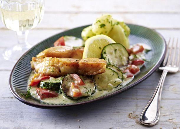 Schnelle Zucchini-Fisch-Pfanne
