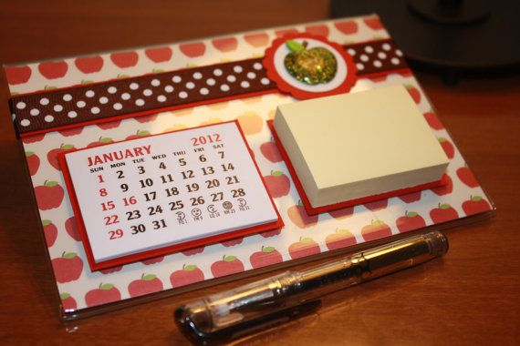 Desktop Calendar Post-it Note Holder