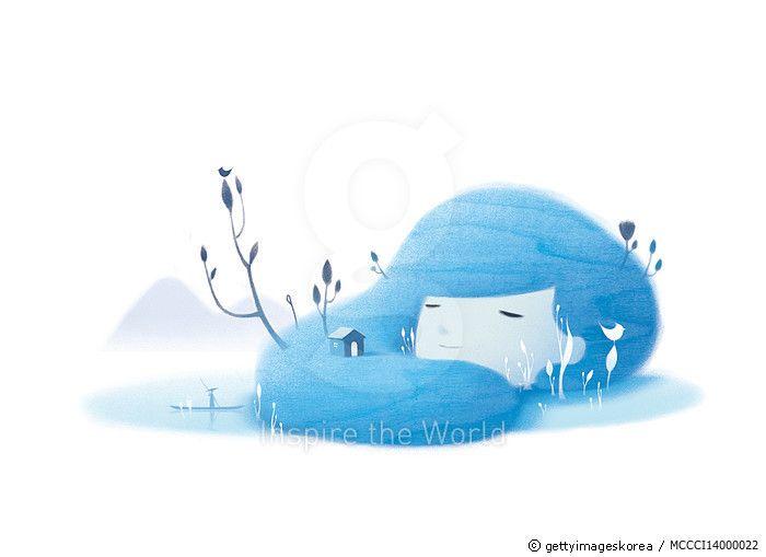 제목 : dream of water (2014년)<br/>소재 : 디지털 일러스트<br/>작품사이즈 : 43x30(㎝)<br/>작품 설명 : 물이 되는 꿈