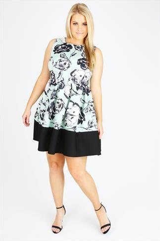 yours clothing poppy print skater dress
