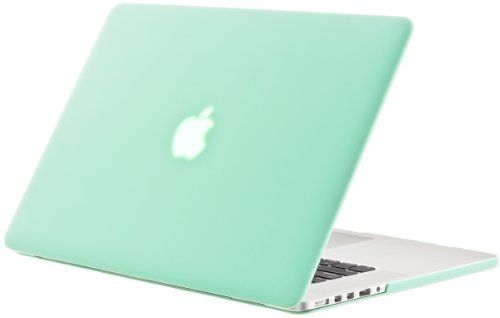 "Kuzy - MINT GREEN Rubberized Hard Case Cover for Apple MacBook Pro 15.4"" with Retina Display Model: A1398 (NEWEST... - List price: $49.95 Price: $25.00 Saving: $24.95 (50%)"