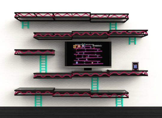 Donkey Kong Shelves by Igor Chak: Make Your Inner 12-Year-Old Happy