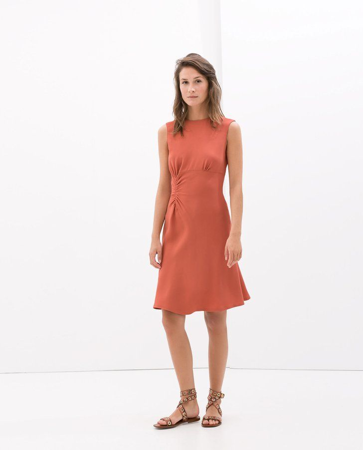 Pin for Later: 11 Awesome Things We Found at Zara This Week Zara Dress Zara Dress With Side Gathering ($100)