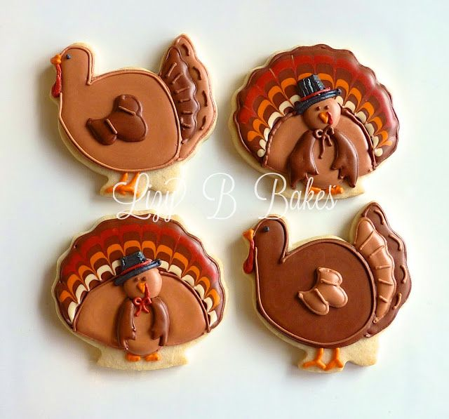 I made these Turkey cookies last year. I tried to make different ones this year.  I really did. But you know what they say... you've...