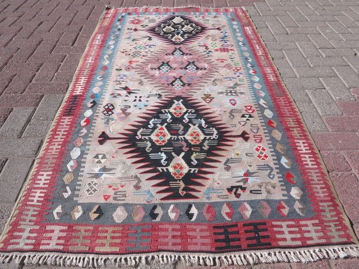 "Vintage Small Turkish Kilim Rugs,Modern Kelim,Tapis 38,9""x73,2"" Area Rug,Carpet #AntalyaKelim #Turkish"