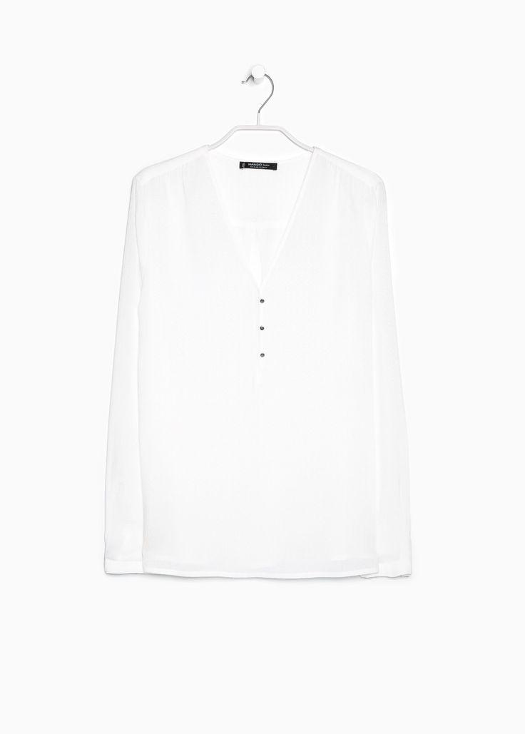 Camicia disegno ricamato