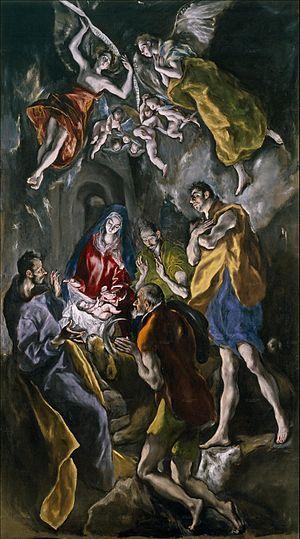 Adoración de los Pastores 1612 -- El Greco Óleo sobre lienzo • Manierismo Museo del Prado, Madrid, España