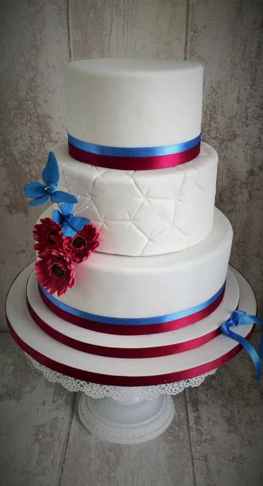 'west ham' wedding cake By clare's Cakes Leicester.