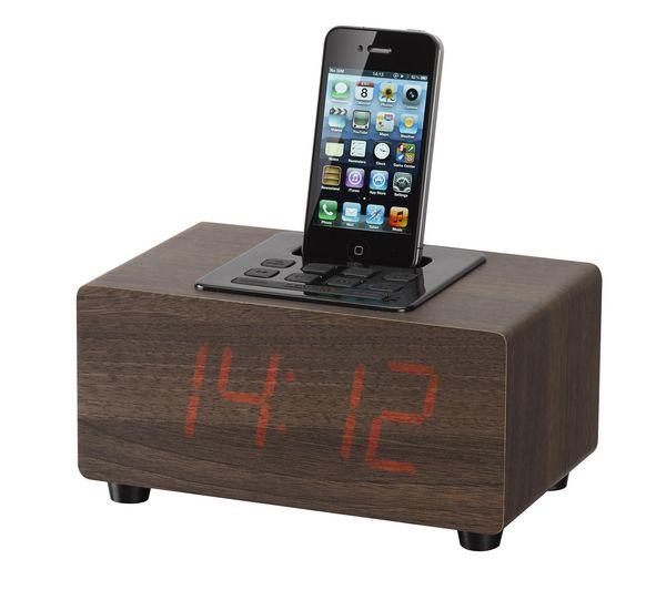 IWANTIT ICRIP12 DAB Clock Radio with iPod Dock - Walnut at cheap prices | Pcworld