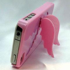 Telefonunuzu melekler korusun... iphone 4 ve 4s içindir Renk: şeker pembesi Kanatları açık konumdayken telefonu dik tutarak video ya da görsel izlemenizi sağlar.