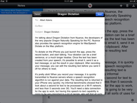 Dragon Dictation app - so you can type less.