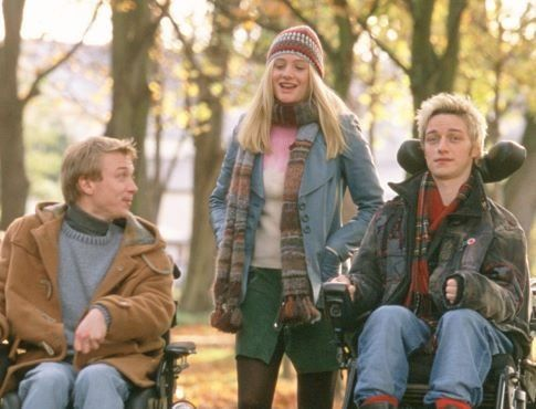 Still of Romola Garai, James McAvoy as Rory O'Shea and Steven Robertson in Rory O'Shea Was Here / Inside I'm Dancing  (2005)