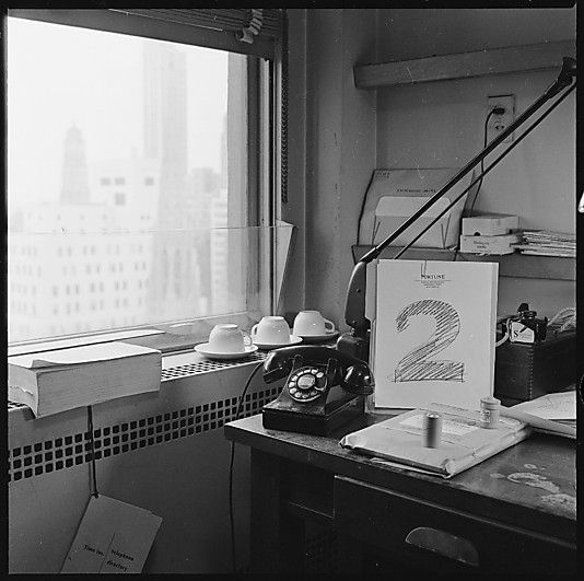 Walker EVANS :: From Views of Walker Evans's Office at Time, Inc. with Number Drawings, 1950's