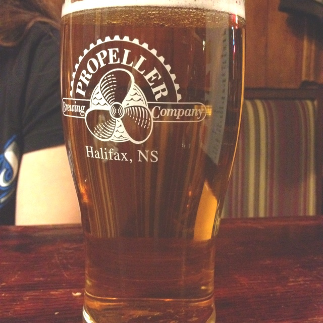 Propeller beer from Halifax, Nova Scotia