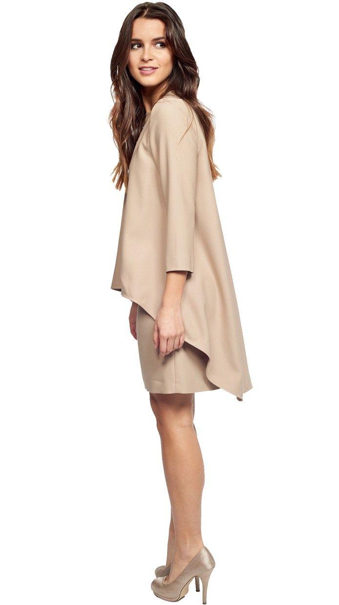 blusa beige capa para invitadas de fiesta disponible on-line en dresseos.com