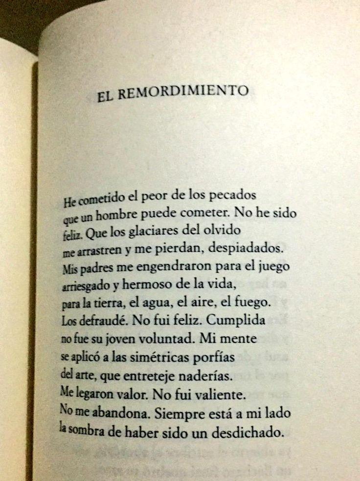 El más grande remordimiento. @BorgesJorgeL #Borges